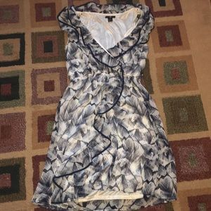 H and M blue floral dress